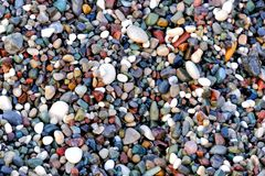 Free Beautiful Texture Of Wet Multicolored Pebbles On The Sea Shore, A Unique Pattern For Design, Background, Wallpaper Royalty Free Stock Image - 154524306
