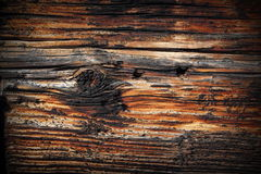 Beautiful texture of old spruce plank Stock Photography