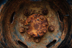 Beautiful texture of rusty old wheel Royalty Free Stock Photo