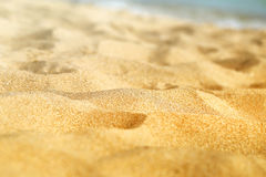 Beautiful texture of yellow sand Royalty Free Stock Photo