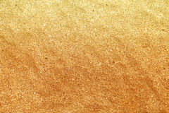 Beautiful texture of yellow sand Royalty Free Stock Images