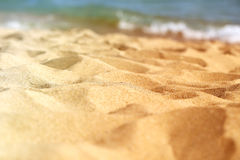 Beautiful texture of yellow sand Stock Image
