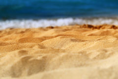 Beautiful texture of yellow sand Royalty Free Stock Image