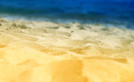 Beautiful texture of yellow sand Royalty Free Stock Photos