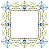 Beautiful textured border frame Stock Image