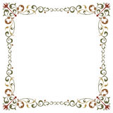 Beautiful textured border frame Royalty Free Stock Photos