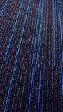 Beautiful textured carpet with blue lines. Beautiful textured carpet-fabric textured background design with blue lines vertical frame royalty free stock images