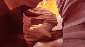 Canyon textures and formations inside the magnificent Antelope Canyon royalty free stock photos