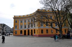 Beautiful 19th-century building in the historic part of the city. stock image