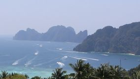 Beautiful Thai bay at Phi Phi Island. stock video footage