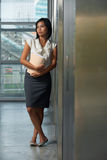 Beautiful Thai Business Woman Office Hallway Stock Photography