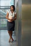 Beautiful Thai Business Woman Office Hallway Stock Photography