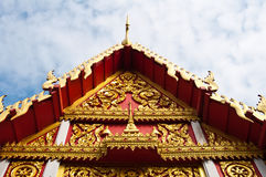 Beautiful Thai church. Front view of beautiful Thai church, Thailand royalty free stock images