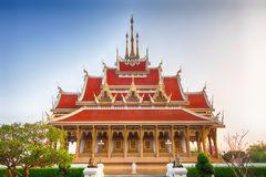 Beautiful Thai Church at Wat Pa Saeng Arun Temple Royalty Free Stock Photography