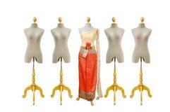 Beautiful Thai dresses Royalty Free Stock Photo