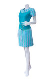 Beautiful Thai dresses on mannequins. Royalty Free Stock Images