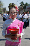 Beautiful thai girl on 34th Flower Festival Stock Photography