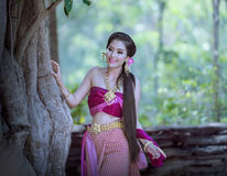 Beautiful Thai girl royalty free stock images