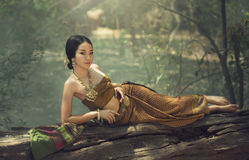 Beautiful Thai girl Royalty Free Stock Photos