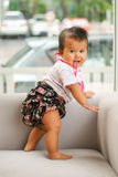 A Beautiful thai japan Baby smiling. At the camera royalty free stock photography