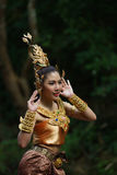 Beautiful Thai lady in Thai traditional drama dress Royalty Free Stock Photography