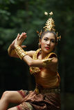 Beautiful Thai lady in Thai traditional drama dress Royalty Free Stock Photos