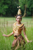 Beautiful Thai lady in Thai traditional drama dress Royalty Free Stock Photo