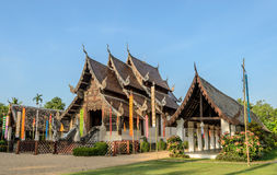 Beautiful Thai Lanna wooden temple Stock Photos
