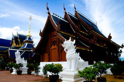 Beautiful Thai Lanna wooden temple Stock Images