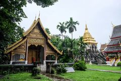 Beautiful temple in Chiang Mai, Thailand royalty free stock photos