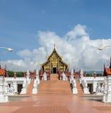 Beautiful Thai Royal pavilion in Lanna style Royalty Free Stock Photos