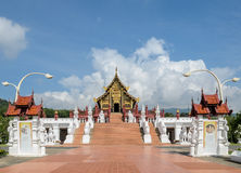 Beautiful Thai Royal pavilion in Lanna style, Thailand Royalty Free Stock Photography