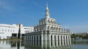 Beautiful Thai sala soaring into blue sky Royalty Free Stock Photos
