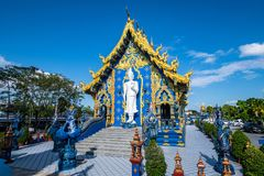 Beautiful Thai style church in Rong Sua Ten temple. Thailand royalty free stock photography
