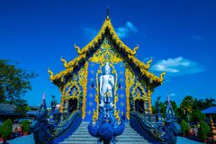 Beautiful Thai style church in Rong Sua Ten temple. Thailand stock image
