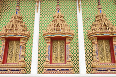 Beautiful of Thai style  church window Royalty Free Stock Image