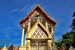 Beautiful Thai temple bathed in morning light Royalty Free Stock Photography