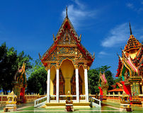 Beautiful Thai temple bathed in morning light Stock Image