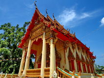 Beautiful Thai temple bathed in sunlight Royalty Free Stock Image