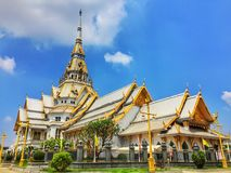 Beautiful Thai Temple of Buddhism royalty free stock images