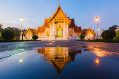 Beautiful Thai Temple called Marble temple Stock Photos