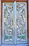 Beautiful Thai temple gate Stock Image