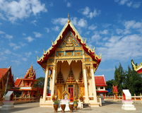 Beautiful Thai temple in peaceful surrounding Stock Photo