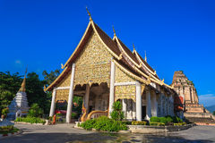 Beautiful thai temple under blue sky Stock Photography