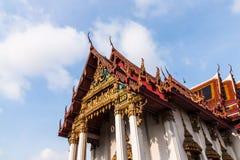 Beautiful Thai temple. At Wat Ammarinthararam, Bangkok noiมbangkok Royalty Free Stock Photos