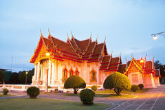 Beautiful Thai Temple Wat Benjamaborphit Royalty Free Stock Photos