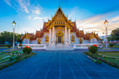 Beautiful Thai Temple Wat Benjamaborphit or Marble temple Royalty Free Stock Photography