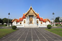 Beautiful Thai Temple Wat Benjamaborphit, temple in Bangkok Royalty Free Stock Photography