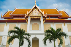 Beautiful Thai Temple Wat Benjamaborphit, temple in Bangkok, Tha. Iland.Generality in Thailand, any kind of art decorated in Buddhist church, temple pavilion Royalty Free Stock Photos