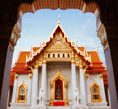 Beautiful Thai Temple Wat Benjamaborphit, temple in Bangkok, Tha. Iland.Generality in Thailand, any kind of art decorated in Buddhist church, temple pavilion Royalty Free Stock Image